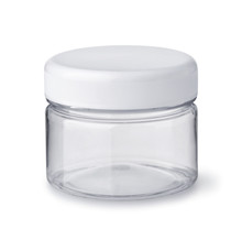 Empty Clear Plastic Cosmetics Jar