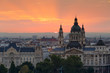 Morning view of St. Stephen's Basilica in Budapest, Hungary.