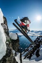 Man Ski Jumping In Jan Mayen
