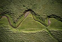 Aerial Landscape Of Winding Dr...