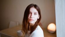 Close-up Portrait Of A Woman W...