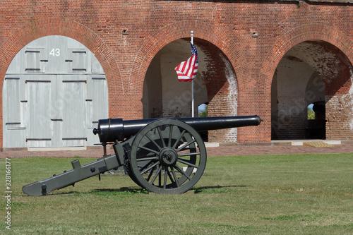 Fotografie, Obraz Fort Pulaski National Monument, Cockspur Island, Savannah, Georgia, USA