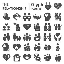Relationship Solid Icon Set. P...