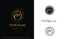 Logo Monogram Of Letters P And...