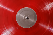 Red Vinyl Record Rotate. Ray O...