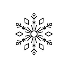 Snowflake Icon. Simple Line, O...