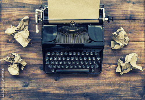 Antique typewriter aged paper Creativity inspiration writing