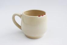 Ceramic Mug With Red Spots Pai...