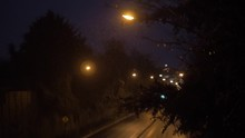 A Highway In A Rainy Night Fro...