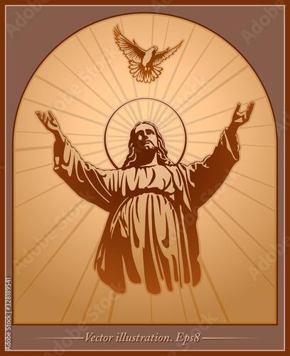 Photo Jesus Christ, holy Spirit, blessing, Christianity, vector