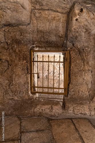 Fotografie, Obraz The prison of Barabbas in Jerusalem