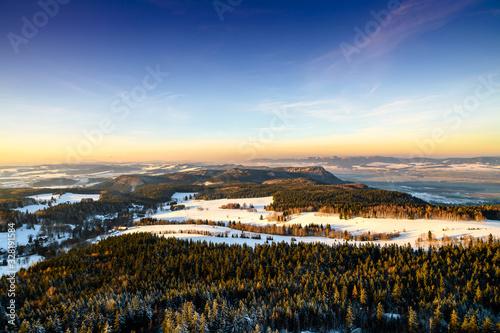 Obraz Góry o zachodzie - fototapety do salonu