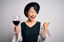 Young Beautiful Asian Sommelie...