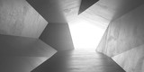 abstract wall polygon dark grey geometric structure with triangular shapes on white background 3d render illustration