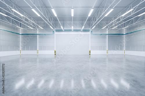 Obraz 3d warehouse and floor - fototapety do salonu