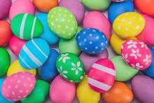 Easter Eggs Multicolored Close...