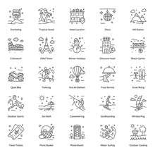 Pack Of Travelling Doodle Icons