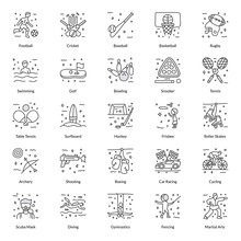 Pack Of Games Doodle Icons