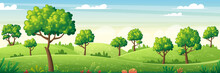 Panorama Summer Landscape With...
