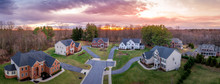 Aerial Sunset Panorama Of Bric...