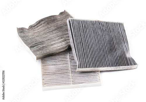 dirty car air condition filter isolated Canvas-taulu