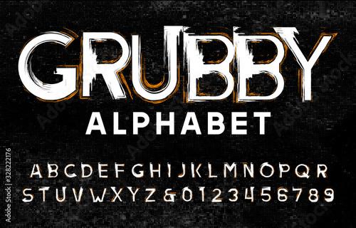 Grubby alphabet font Tapéta, Fotótapéta