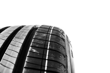 tire isolated on white background. Summer car tire
