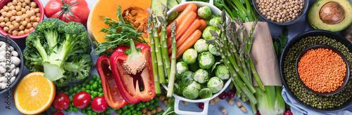 Vegan and vegetarian food concept. Wallpaper Mural