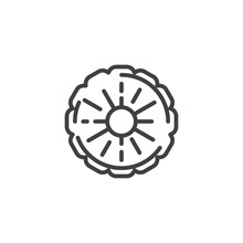 Pineapple Slice Line Icon. Lin...