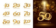 Set Of Anniversary Logotype De...