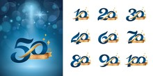Set Of Anniversary Logotype De...