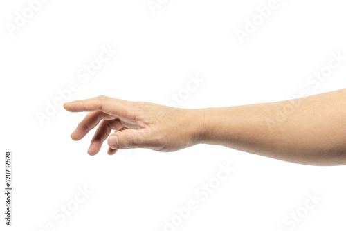 Leinwand Poster hand isolated on white background