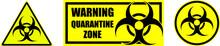 Set Of Yellow Biohazard Signs ...