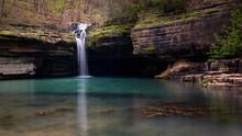 Waterfall In The Ozarks In Missouri