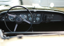 Car Steering Wheel And Dashboard