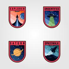 Space Mission Patches Logo Vec...