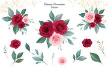 Set Of Floral Arrangements Of ...