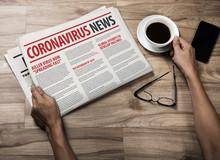 Mockup Of Coronavirus Newspape...
