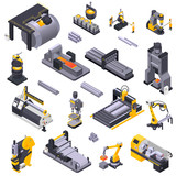 Metal Industry Isometric Set