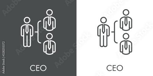 Símbolo CEO Canvas Print