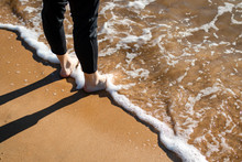 Legs In Ocean