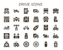 Drive Icon Set