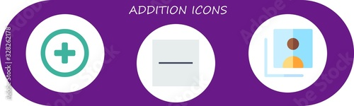 Modern Simple Set of addition Vector flat Icons Wallpaper Mural