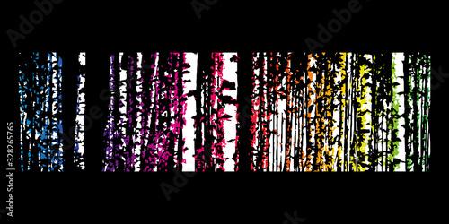 Brzozowy las. Tło wektor.