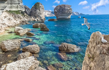 Rocks And Sea, Bonifacio, Corse