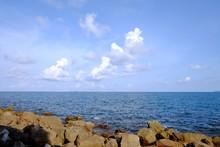 A Horizontal Line Of Deep Blue...