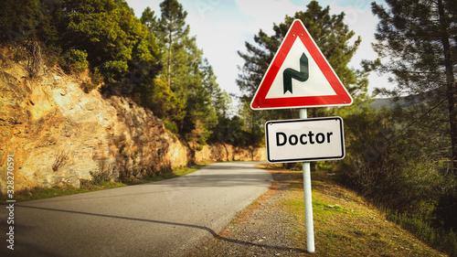 Fotografía Street Sign to Doctor