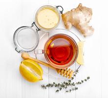 Ginger Tea With Lemon Honey An...