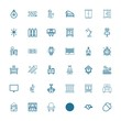 Editable 36 decor icons for web and mobile