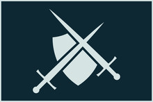 Shield And Sword Shape. Army F...